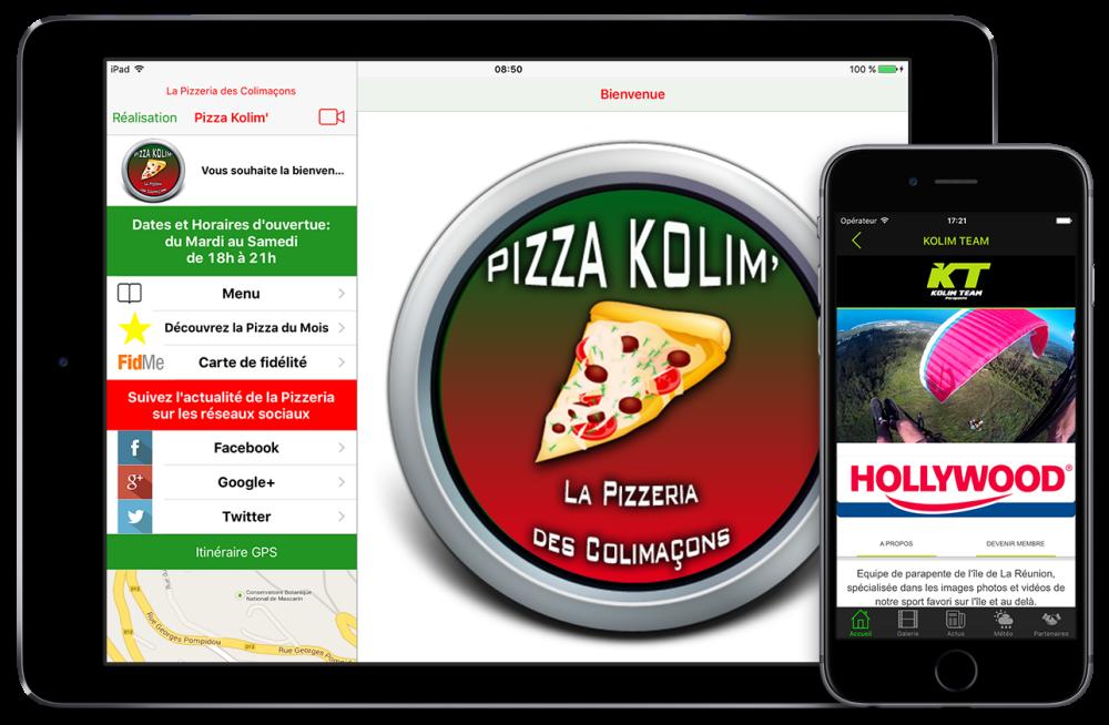 Création d'application mobile